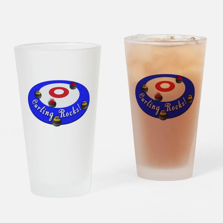 Curling Rocks! Drinking Glass
