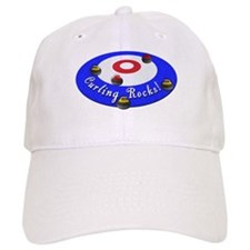 Curling Rocks! Baseball Baseball Cap