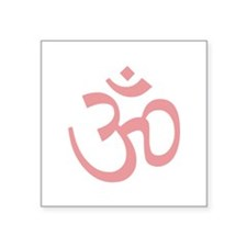 "Yoga Ohm, Om Symbol, Namaste Square Sticker 3"" x 3"