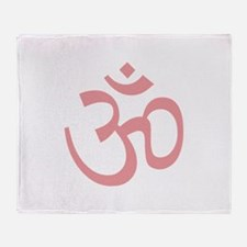 Yoga Ohm, Om Symbol, Namaste Throw Blanket