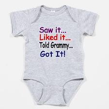 Saw It, Liked It, Told Grammy, Got It! Baby Bodysu