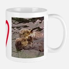 Sea Otters Holding Hands Mug