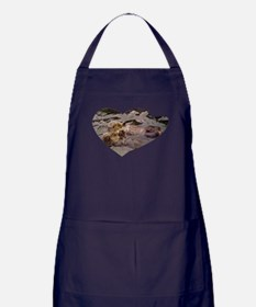 Sea Otters Holding Hands Apron (dark)