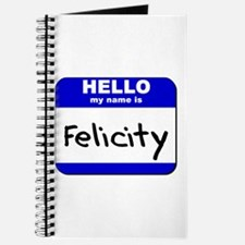 hello my name is felicity Journal