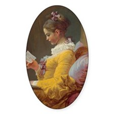 Young Girl Reading Decal