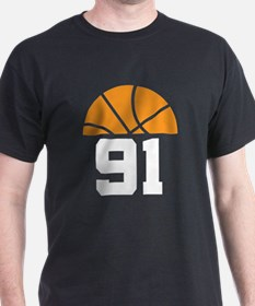 Basketball Number 91 Player Gift T-Shirt