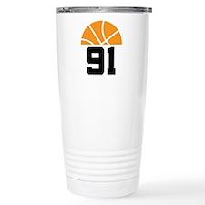 Basketball Number 91 Player Gift Travel Mug