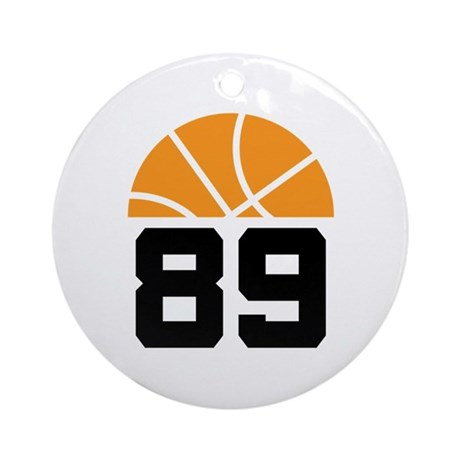Basketball Number 89 Player Gift Ornament (Round)