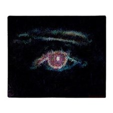 Portrait of an Eye Throw Blanket