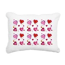 Hearts xoxo Rectangular Canvas Pillow