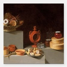 "Still Life with Sweets a Square Car Magnet 3"" x 3"""