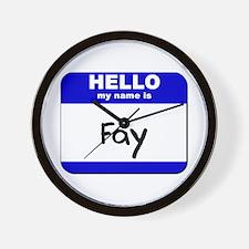 hello my name is fay  Wall Clock