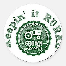 Keepin it RURAL 02 Round Car Magnet