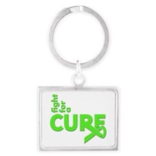Lyme Disease Fight For A Cure Landscape Keychain