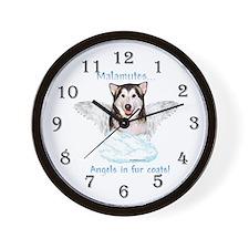Malamute Angel Wall Clock
