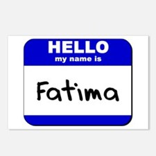hello my name is fatima  Postcards (Package of 8)