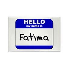 hello my name is fatima Rectangle Magnet