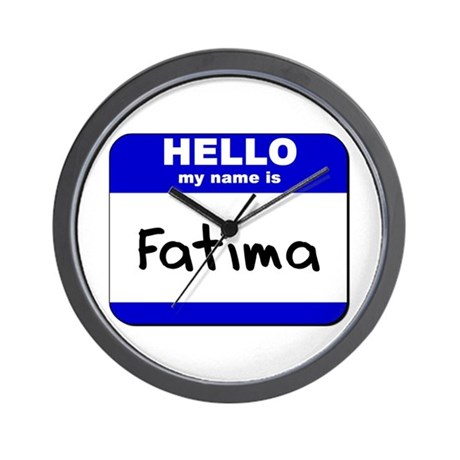 hello my name is fatima Wall Clock