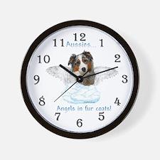 Aussie Angel Wall Clock