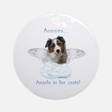 Aussie Angel Ornament (Round)
