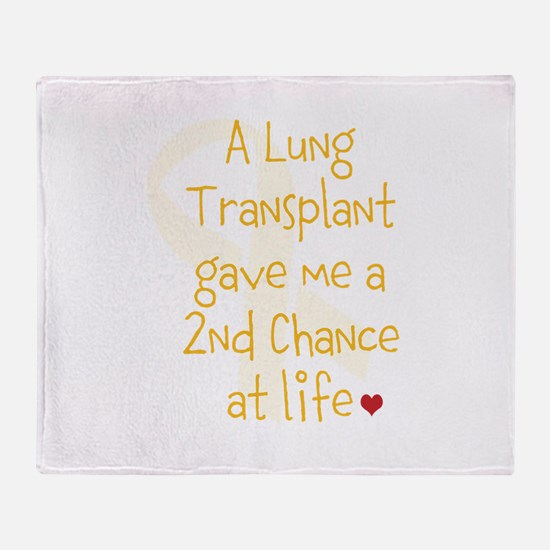 2nd Chance At Life (Lung) Throw Blanket