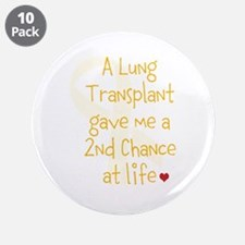 """2nd Chance At Life (Lung) 3.5"""" Button (10 pack)"""