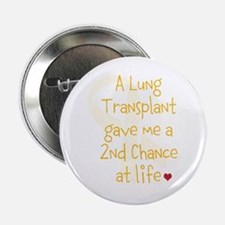 "2nd Chance At Life (Lung) 2.25"" Button (10 pack)"