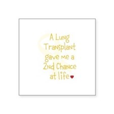 """2nd Chance At Life (Lung) Square Sticker 3"""" x 3"""""""