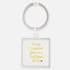 2nd Chance At Life (Lung) Square Keychain