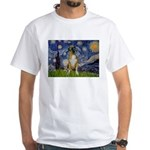 Starry / Boxer White T-Shirt