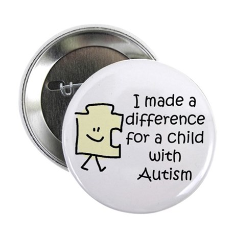 "Made a Diff 4 Child \w Autism 2.25"" Btn"