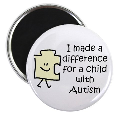 "Made a Diff 4 Child \w Autism 2.25"" Magnet 10"