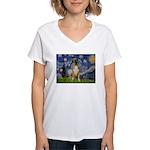 Starry / Boxer Women's V-Neck T-Shirt