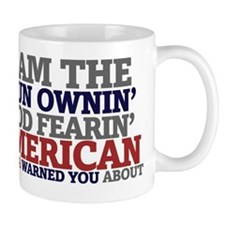 Proud gun owning American   Small Mug