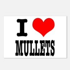 I Heart (Love) Mullets Postcards (Package of 8)
