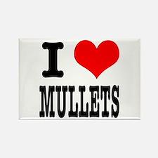 I Heart (Love) Mullets Rectangle Magnet