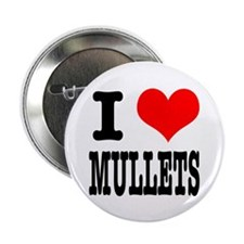 """I Heart (Love) Mullets 2.25"""" Button (10 pack)"""