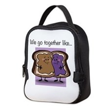 Peanut Butter and Jelly Neoprene Lunch Bag