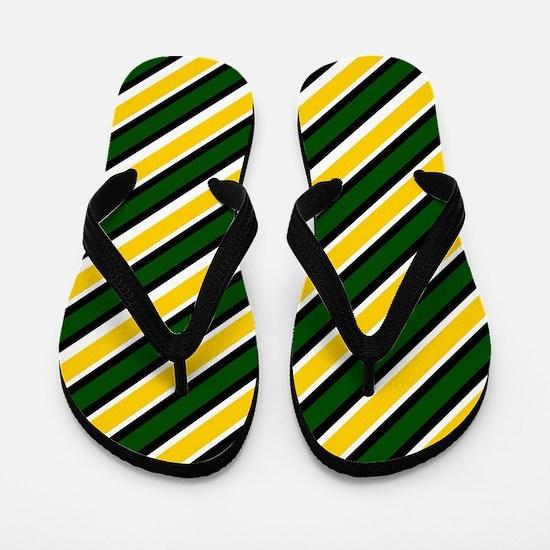 Team Colors...Green ,yellow Flip Flops