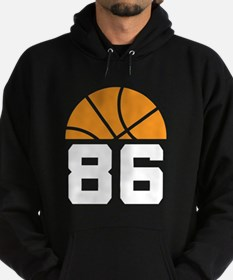 Basketball Number 86 Player Gift Hoodie