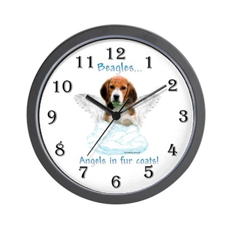 Beagle Angel Wall Clock