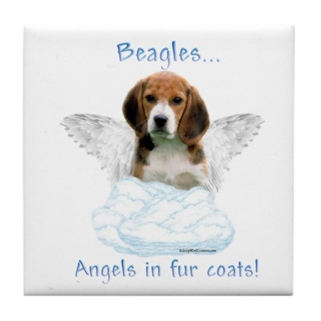 Beagle Angel Tile Coaster