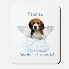 Beagle Angel Mousepad