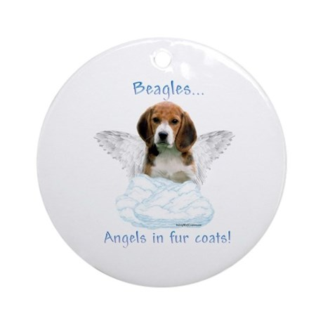 Beagle Angel Ornament (Round)