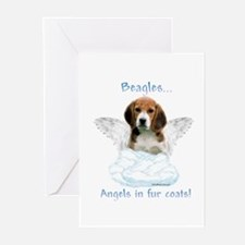 Beagle Angel Greeting Cards (Pk of 10)