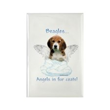 Beagle Angel Rectangle Magnet