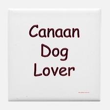 Canaan Dog Lover Tile Coaster