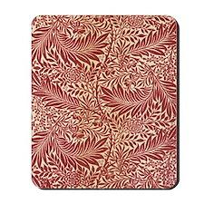 Vintage Red Pattern Artwork Mousepad