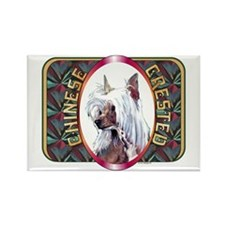 Chinese Crested Designer 2 Rectangle Magnet (100 p