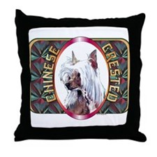Chinese Crested Designer 2 Throw Pillow